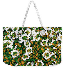 Floral Texture In The Summer Weekender Tote Bag