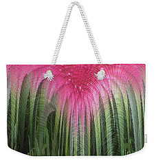 Floral Waterfall Weekender Tote Bag by Ann Johndro-Collins