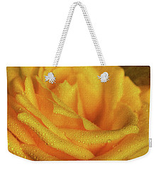 Weekender Tote Bag featuring the photograph Floral Yellow Rose Blossom by Shelley Neff