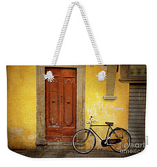 Weekender Tote Bag featuring the photograph Florence Bicycle Under The Sun by Craig J Satterlee