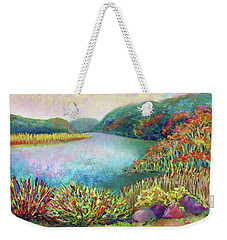 Weekender Tote Bag featuring the painting Florence Griswold View by Polly Castor