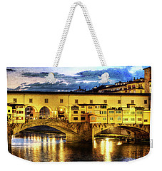 Florence - Ponte Vecchio Sunset From The Oltrarno - Vintage Version Weekender Tote Bag