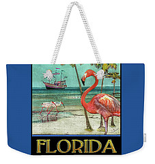 Weekender Tote Bag featuring the photograph Florida Advertisement by Hanny Heim