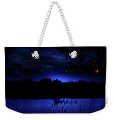 Florida Everglades Lunar Eclipse Weekender Tote Bag