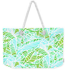 Florida Keys Leaves Weekender Tote Bag