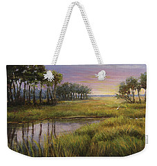 Florida Marsh Sunset Weekender Tote Bag
