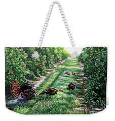 Florida-orange Groves-osceola Turkeys Weekender Tote Bag