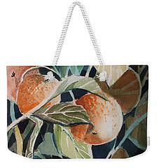Florida Oranges Weekender Tote Bag by Mindy Newman
