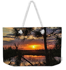 Weekender Tote Bag featuring the photograph Florida Pine Sunset by HH Photography of Florida