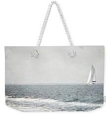 Florida Rustic Sailboat Ocean Landscape Weekender Tote Bag by Andrea Hazel Ihlefeld