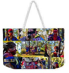 Weekender Tote Bag featuring the photograph Florida Seminole Indian Warriors Circa 1800s by David Lee Thompson