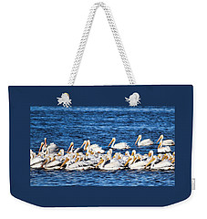 Weekender Tote Bag featuring the photograph Florida Snowbirds by Barbara Chichester