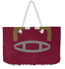 Florida State Seminoles Vintage Football Art Weekender Tote Bag by Joe Hamilton