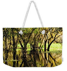 Weekender Tote Bag featuring the photograph Florida Swamp by Rosalie Scanlon