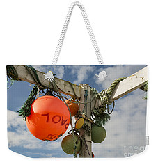Weekender Tote Bag featuring the photograph Flotsam And Jetsam by Brian Roscorla