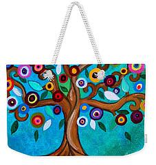 Weekender Tote Bag featuring the painting Flourishing Tree by Pristine Cartera Turkus