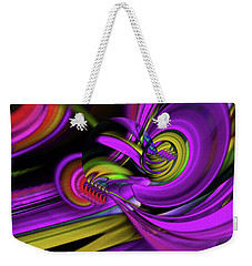 Flow 2 Weekender Tote Bag by Elaine Hunter