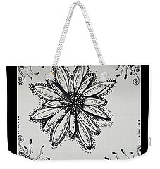 Weekender Tote Bag featuring the drawing Flow by Carole Brecht
