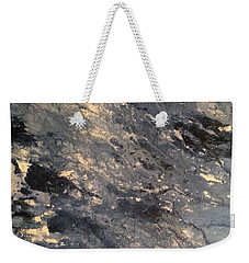 Weekender Tote Bag featuring the painting Flow by Denise Tomasura