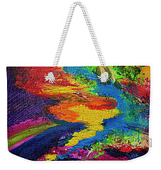 Weekender Tote Bag featuring the painting Flow by Jeanette French