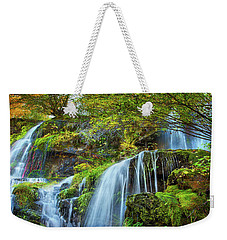 Weekender Tote Bag featuring the photograph Flow by John Poon