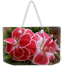 Flower-a-day Weekender Tote Bag by Anne Gordon