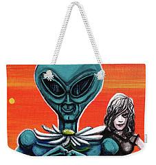 Flower. Alien. Moon Weekender Tote Bag