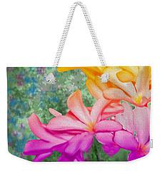 God Made Art In Flowers Weekender Tote Bag