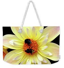 Flower And Bees Weekender Tote Bag