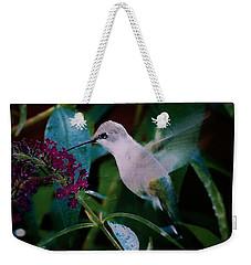 Flower And Hummingbird Weekender Tote Bag
