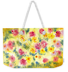 Flower Bed Weekender Tote Bag