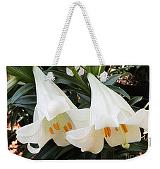 Flower Bells Twins Weekender Tote Bag