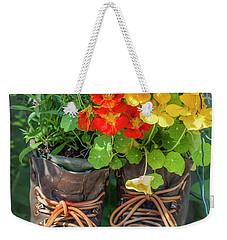 Flower Boots Weekender Tote Bag