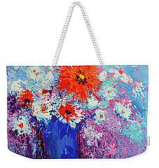 Flower Bouquet Modern Impressionistic Art Palette Knife Work Weekender Tote Bag