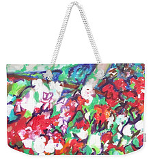 Flower Bower Weekender Tote Bag by Esther Newman-Cohen
