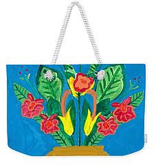Flower Bowl Weekender Tote Bag by Margie-Lee Rodriguez
