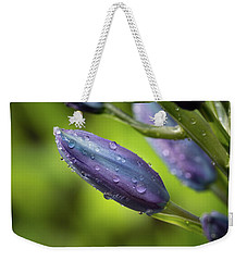 Flower Buds With Dew Drops Weekender Tote Bag