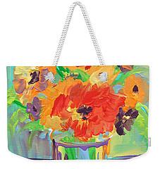 Flower Burst Weekender Tote Bag by Terri Einer