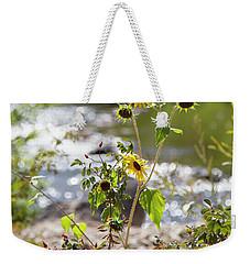 Flower By Stream Weekender Tote Bag