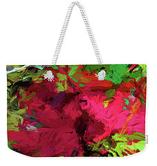 Flower Christmas Red Green Pink Weekender Tote Bag