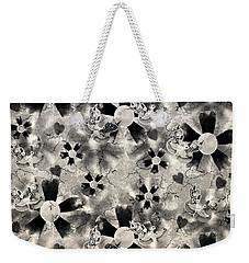 Flower Clown Pattern In Black Weekender Tote Bag