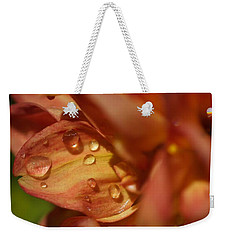 Flower Drops Weekender Tote Bag