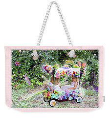 Flower Fairies In A Flower Mobile Weekender Tote Bag by Lise Winne
