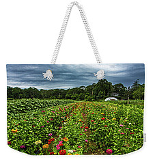 Flower Field At North Sea Farms Weekender Tote Bag