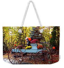 Flower Filled Wagon Weekender Tote Bag