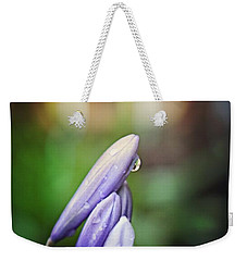 Weekender Tote Bag featuring the photograph Flower Fire Light Bokeh by Ella Kaye Dickey