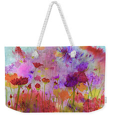 Flower Frenzy  Weekender Tote Bag