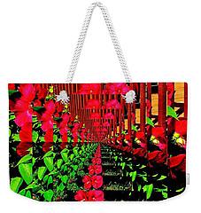 Weekender Tote Bag featuring the digital art Flower Garden Abstract by Marsha Heiken