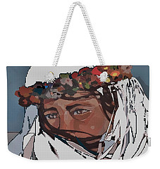Flower Girl 3 Weekender Tote Bag by Andrew Drozdowicz