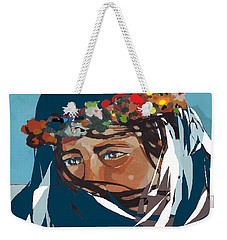 Flower Girl Weekender Tote Bag by Andrew Drozdowicz